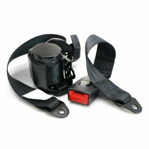 1pc 3 Point Fixed Safety Belt Adjustable Retractable 3 Point Harness Seat Belt