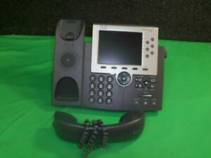 Cisco Cp 7965g Voip Business Telephones W Handset Lot Of 2