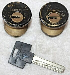 Lot Of Two Mul t lock Mortise Cylinders W1 Key In Key Way 36 Rekey High Security