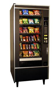 National Vendors Snack candy Machine With Credit Card Reader Accepts 1
