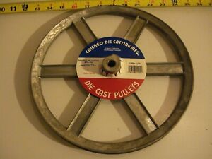 0457 Die Cast Pulley 9 Dia 1 2 Bore V belt A 6 spokes