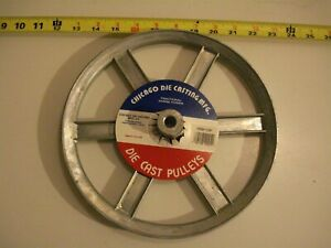 0461 Die Cast Pulley 10 Dia 1 2 Bore V belt A 6 spokes