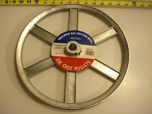 0471 Die Cast Pulley 12 Dia 3 4 Bore V belt A 6 spokes