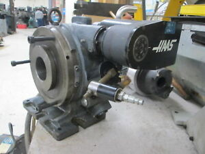 8 horizontal vertical Rotary Table W 2 3 8 spindle Thru Hole Haas Index Drive