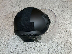 Black Airsoft Swat Helmet Combat Mich 2000 Helmet with Protective  face shield