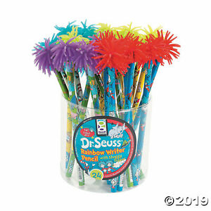 Wood Dr Seuss Rainbow Writer Pencils 24 Per Order