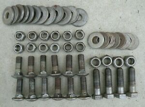 Cadillac Front Bumper Bracket Nuts Bolts Round Flat Washers 1963 1964 63 64 Oem