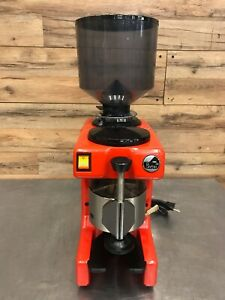 La Pavoni Zip Red Commercial Coffee Grinder With On And Off Switch