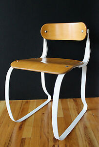 Art Deco Ironite Health Chair 30 S Early Laminated Wood Steel Herman Sperlich