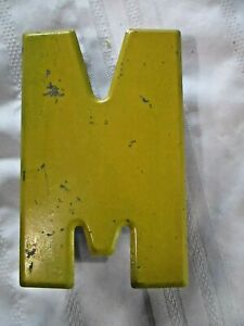 Vintage Metal Letter W Or M Old Drive In Marquee Sign Board 7 1 2 Homedecor