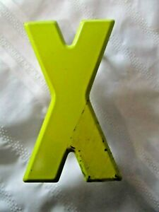 Vintage Metal Letter X Old Drive In Marquee Sign Board 7 1 2 Home Decor