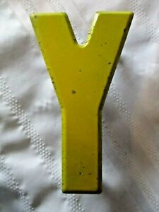 Vintage Metal Letter Y Old Drive In Marquee Sign Board 7 1 2 Home Decor
