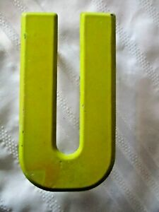 Vintage Metal Letter U Old Drive In Marquee Sign Board 7 1 2 Home Decor
