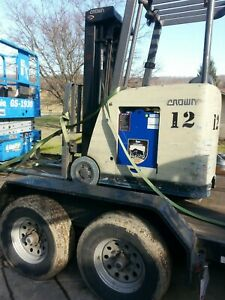 Crown Ride On Counter Balance Forklift Newark Ohio Electric 36 Volt Battery
