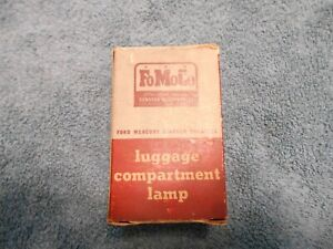 1955 1956 Ford Nos Luggage Compartment Lamp Trunk Light Kit