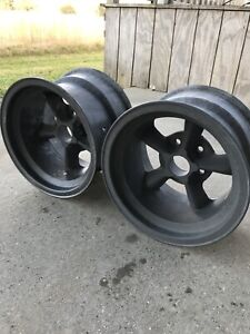 Vintage American Racing Magnesium D Spoke Thrust Wheels Gasser Halibrand 15x10