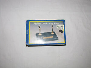 Executive Marble Double Pen Stand