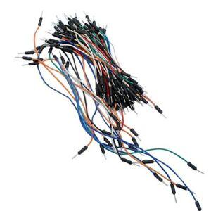 65pcs Mixed Color Solderless Breadboard Jump Cable Wires Flexible For Arduino