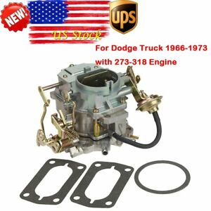 New Carburetor Carb Engine Fits Dodge Plymouth 318 Engine Carter 2 Bbl 2barrel
