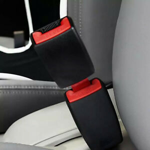 Auto Car Safety Seat Belt Snap Buckle Extension Alarm Extender Universal 2pcs