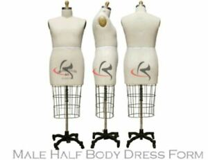 Professional Male Half Body Dress Form arm Included Size 36