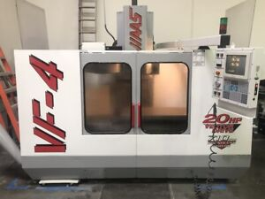 Used Haas Vf 4 Cnc Vertical Machining Center 50x20 Mill 4th Ready Gearbox Vqc 98