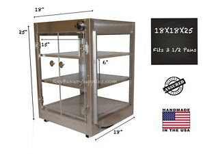 Food Warmer Display Case 18x18x25 Fits 3 15 Pizzas