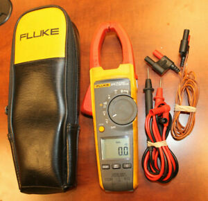 Fluke 374 True rms Ac dc Clamp Meter W Leads Case Free Shipping