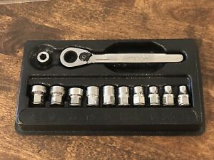 Snap On Tools Usa Made 12pc Drive 6 point Metric Flank Drive Ratchet socket Set