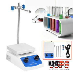 New Magnetic Stirrer With Heating Plate Sh 2 Hotplate Mixer 110v