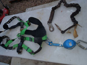 Web Devices Full Body Fall Arrest System Safety Harness Lanyard Self Retracting