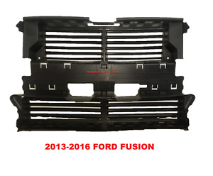 New 2013 2016 Ford Fusion Front Radiator Shutter W o Actuator Motor Ds7z 8475 a