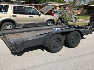 20ft Open Race Car Hauler Utility Cargo Car Trailer