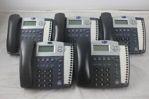 Lot Of 5 At t 945 4 line Small Business System Office Phones W Grey Handsets
