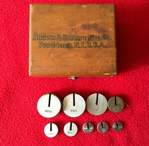 Vintage Brown Sharpe Boxed Set Of Slotted Gages