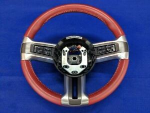 2011 2012 2013 2014 Ford Mustang Gt Red Leather Oem Steering Wheel 401a Premium