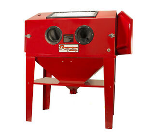 Dragway Tools Model 90 Sandblasting Cabinet With Gun And Nozzles