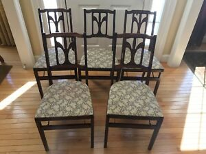 Vintage Stakmore Chairs Set Of 5