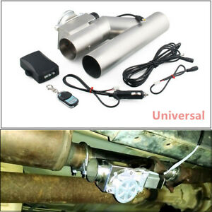 1set 3 Inch 76mm Exhaust Control E Cut Out Valve Electric Y Pipe With Remote Kit
