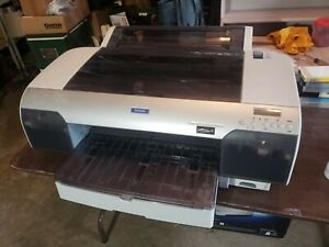 Epson Stylus Pro 4000 Large Format Color Printer Used Ink And Book Included