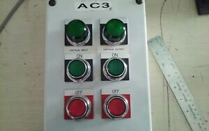 Custom Built Lighted On Off Switch Box With Red Lion Control 48041