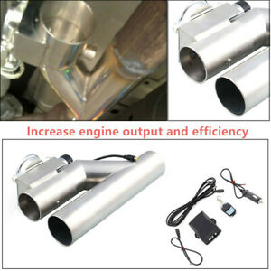 Durable Exhaust Control E Cut Out 3 Inch Valve Electric Y Pipe With Remote Kit