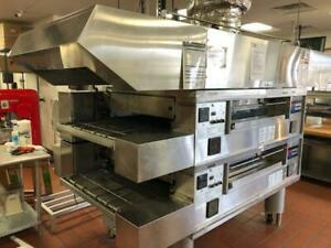 2013 Middleby Marshall Double Stack Conveyor Oven Model Ps570g Nat Gas W Hood