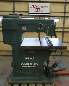 Onsrud Pin Router Ro 117h 3 Hp 3 Ph 220 440v 3480 Rpm With Brake 26 Throat