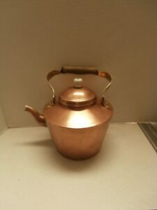 Antique Primitive Solid Copper Kettle Western Cowboy Tea Pot Coffee Olld Dutch