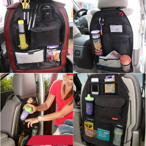 Black Auto Car Seat Organizer Holder Multi Pocket Travel Storage Bag Hanger Tidy