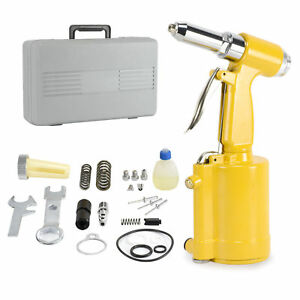 1 New Portable Pneumatic Air Riveter Hydraulic Rivet Gun Riveting Tool W case Us