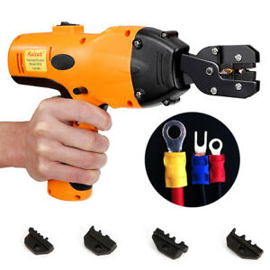 Electric Battery Powered Handheld Cable Wire Crimper Automatic Crimping Tool Us
