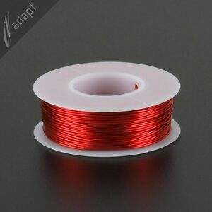 Magnet Wire Enameled Copper Red 21 Awg gauge 155c 1 4 Lb 100ft