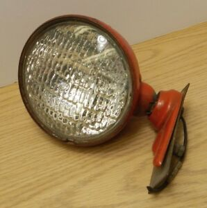 Vintage Hall Tractor Light Red With Medallion Tear Drop Shape